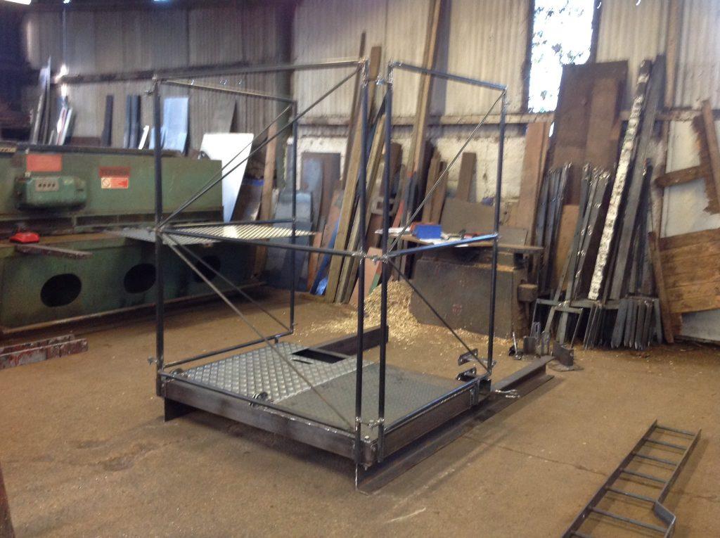 Mansafe cradle for telephone mast