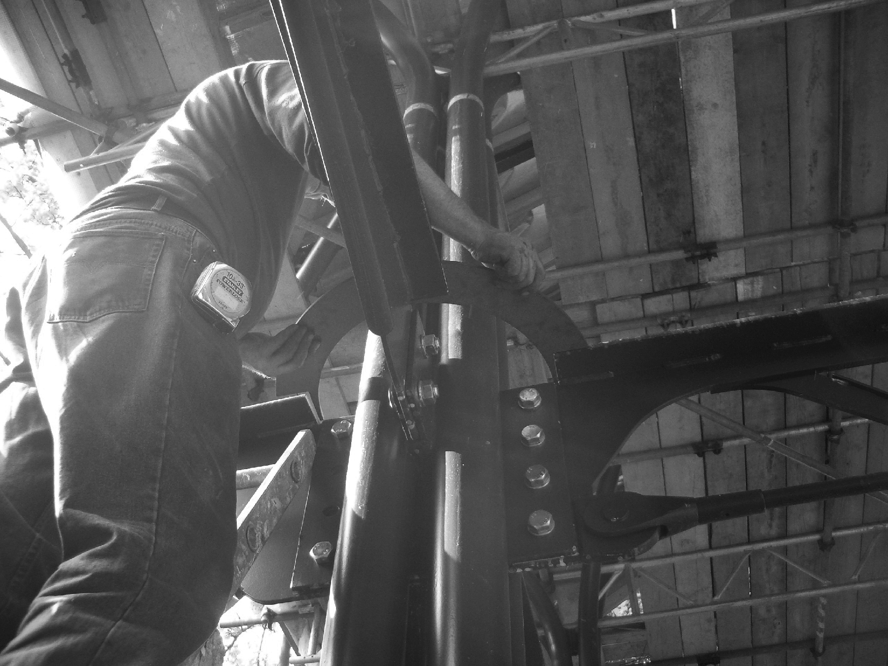 Precise steel work fitted on site